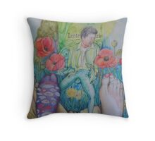 The old frog story Throw Pillow