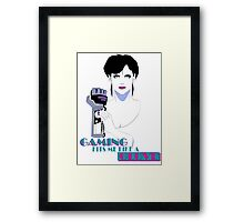 Retro PowerGlove Gamer Framed Print