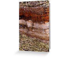 Rock Layers Greeting Card