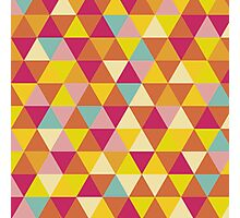 Colorful Abstract Geometric Shapes Pattern Photographic Print