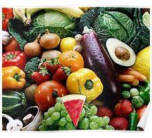 Veggies and Vitamins Poster