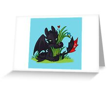 Dragons Love Grass Greeting Card