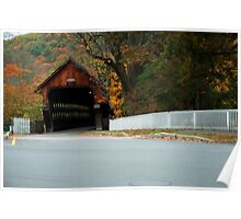 Middle Covered Bridge in Woodstock Vermont Poster