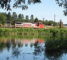 BNSF across the lake by David Shaw