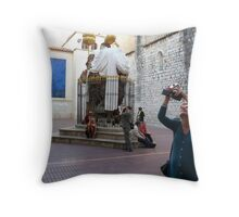 """How many photographers are involved in this image?""""Solved"""" Throw Pillow"""
