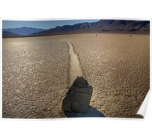 Death Valley  Moving Rocks Poster