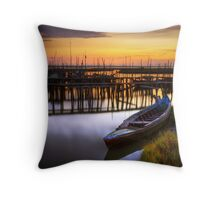 Palaffite Port Throw Pillow