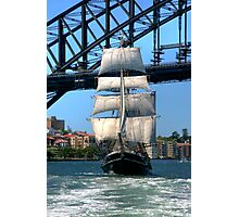 Tall Ship in Sydney Harbour Photographic Print