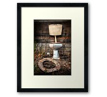 Atmospheric Toilet Cabin Framed Print