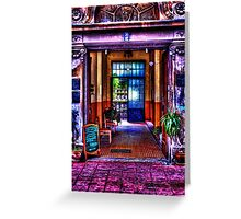 Old Restaurant Fine Art Print Greeting Card