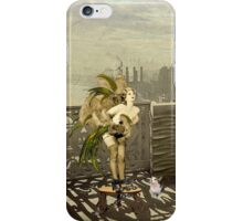 A Goldfinch for Mika (Self-portrait with my cat) iPhone Case/Skin