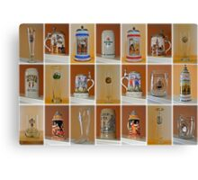 Beer Steins and Glasses Canvas Print