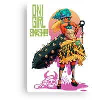 Oni Girl SMASH Canvas Print