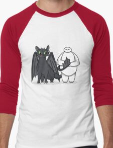 Toothless & Baymax Men's Baseball ¾ T-Shirt