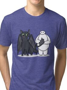 Toothless & Baymax Tri-blend T-Shirt