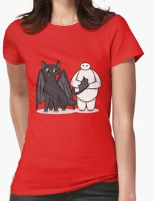 Toothless & Baymax Womens Fitted T-Shirt