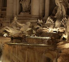 Trevi Fountain by Cathy  Walker