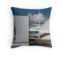 national museum of brasilia Throw Pillow
