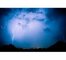 Lightning Rainbow Blues Photographic Print