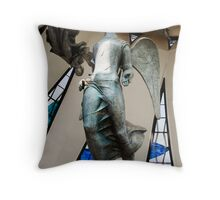 angels of brasilia's metropolitan catedral Throw Pillow
