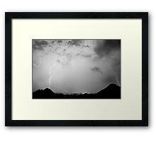 Lightning Rainbow Black and White Framed Print