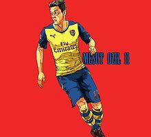 Mesut Ozil 11 Illustration | Arsenal FC Footballer by Stefarin