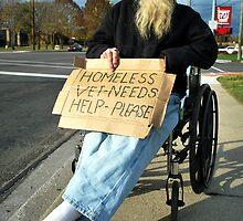 Homeless Vet by Judy Seltenright