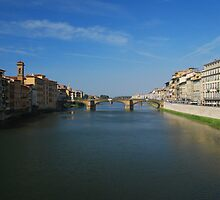 River Arno by Peter Reid