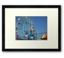 Astroland @ Coney Island, NY Ferris Wheel Framed Print