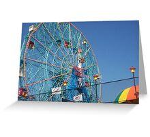 Astroland @ Coney Island, NY Ferris Wheel Greeting Card