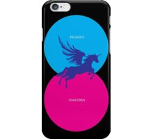 Pegacorn Venn Diagram (Pegasus + Unicorn) iPhone Case/Skin