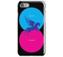 Pegacorn Venn Diagram (Pegasus + Unicorn) iPhone Case/Skin