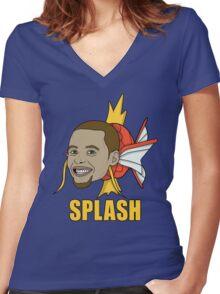 Splash Curry 'Currykarp' Women's Fitted V-Neck T-Shirt