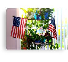USA Flag Sunshine Canvas Print