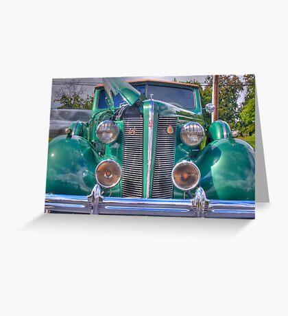 Classic Green Buick Greeting Card
