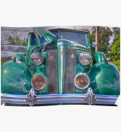 Classic Green Buick Poster