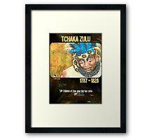 Tchaka Zulu Framed Print