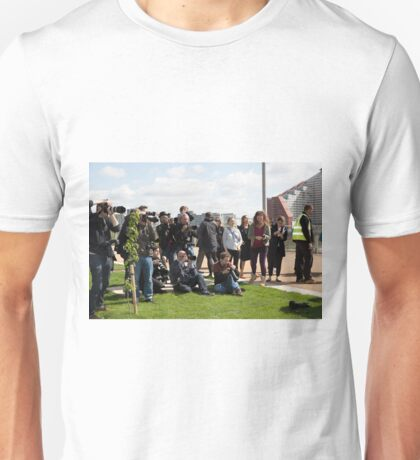 Press in Queen Elizabeth Olympic park Unisex T-Shirt