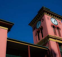 Colorful Clock Tower by ronsphotos