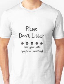 Please Don't Litter T-Shirt