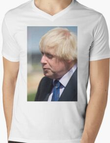 Boris Johnson MP Mens V-Neck T-Shirt