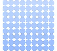 Sky Blue Dots Photographic Print