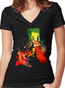 Call me Snake Women's Fitted V-Neck T-Shirt