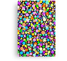 Polka Dots Psychedelic Colors Canvas Print