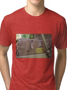 Ammunition wooden box Tri-blend T-Shirt
