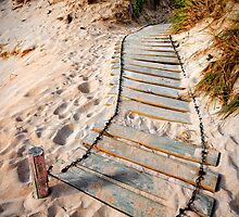 Beach walkway. by Victor Pugatschew