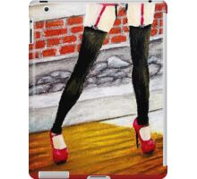 I'm Waiting, Oil Pastels, by James Patrick iPad Case/Skin