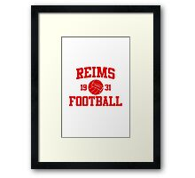 Reims Athletic College Style 2 Gray Framed Print