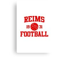Reims Athletic College Style 2 Gray Canvas Print