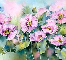 Pink Poppies (Papaver Somniferum) by artbyrachel
